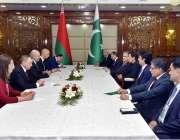 بشکیک: وزیر اعظم عمران خان اور بلارس کے صدر ملاقات کے دوران تبادلہ خیال ..