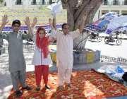 لاہور: سانگلہ ہل کے رہائشی فیصل چوک میں اپنے مطالبات کے حق میں احتجاج ..