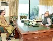 اسلام آباد: صدر مملکت ڈاکٹر عارف علوی سے ایم پی اے شہر یار خان ملاقات ..