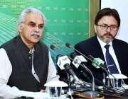 اسلام آباد:وزیر اعظم کے معاون خصوصی برائے صحت ڈاکٹر ظفر مرزا پریس کانفرنس ..