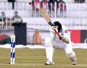 راولپنڈی: پنڈی کرکٹ اسٹیڈیم میں پاکستان اور سری لنکا کے مابین کھیلے ..