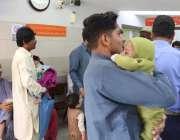 کراچی: ینگ ڈاکٹرز کی ہڑتال کے باعث نیشنل انسٹی ٹیوٹ آف چائلڈ ہیلتھ کراچی ..