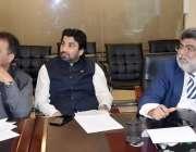 اسلام آباد: چیف آگنائزر پی ٹی آئی سیف اللہ خان نیازی سے ملاقات کے لیے ..