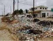 کراچی: کورنگی ڈھائی الفلاح محمد ریاض چوک یوسی 35 میں جگہ جگہ کوڑے کرکٹ ..