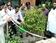 لاہور: مینجنگ ڈائریکٹر پنجاب سیڈ کارپوریشن ڈاکٹر غضنفر علی خان سب آفس ..