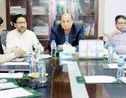 لاہور: صوبائی وزیر قانون و بلدیات راجہ بشارت محکمہ لوکل گورنمنٹ کے ..