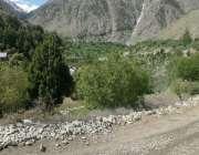 گلگت: گلگت بلتستان کے سیاحتی ضلع استور کی ایک وادی کا خوبصورت منظر۔