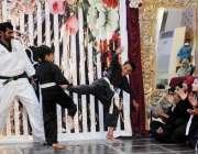 راولپنڈی: سعدیزایکول سکول کی سالانہ تقریب ایوارڈ کے موقع پر طلبہ مارشل ..