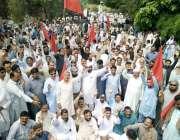 لاہور: واسا ملازمین سلطان گجر کی قیادت میں کشمیریوں سے اظہار یکجہتی ..