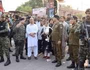 لاہور: ڈپٹی کمشنر لاہورصالحہ سعید کربلا گامے شاہ کے باہر سکیورٹی انتظامات ..