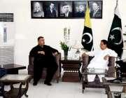 مظفر آباد: وزیر اعظم آزاد کشمیر راجہ محمد فاروق حیدر خان سے وزیر حکومت ..