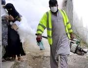 اسلام آباد: جی۔ 7/4 سیکٹر میں ڈینگی وائرس سے بچاؤ کے لئے صحت سے متعلق ..