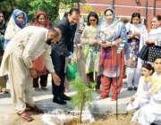 راولپنڈی:صدر پاکستان گرین ٹاسک فورس ڈاکٹر جمال ناصر گورنمنٹ ڈگری کالج ..