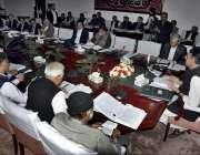 اسلام آباد: وفاقی وزیر خزانہ اسد عمر اعلیٰ سطحی اجلاس کی صدارت کر رہے ..