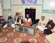 لاہور: آستانہ عالیہ حسینیہ انگوری باغ میں پیر سید ابرار احمد گیلانی ..