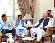 پشاور: وزیراعلیٰ خیبرپختونخوا محمود خان وزیراعلیٰ ہاؤس میں 33 ویں قومی ..