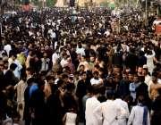 لاہور: محرم الحرام کا مرکزی جلوس اپنی منزل کی جانب رواں دواں ہے۔