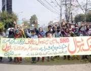 لاہور: مسیحی خواتین مطالبات کے حق میں احتجاج کر رہی ہیں۔