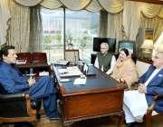 اسلام آباد: وزیر اعظم عمران خان سے معاون خصوصی ہیلتھ ڈاکٹر ظفر اللہ ..