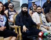 اسلام آباد: روپ فیسٹ انٹرنیشنل ریسلرز جناح اسٹیڈیم میڈیا سنٹر میں پریس ..