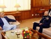 اسلام آباد: سپیکر قومی اسمبلی اسد قیصر سے پاک فضائیہ کے سربراہ ائیر ..