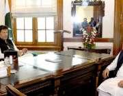 لاہور: وزیر اعظم عمران خان سے وزیر اعلیٰ پنجاب سردار عثمان بزدار ون ..