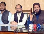 لاہور: جماعت اسلامی پنجاب کے سیکرٹری جنرل محمد جاوید قصوری پریس کانفرنس ..