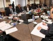 لاہور: پاکستان کرکٹ بورڈ کے چیئرمین احسان مانی گورننگ باڈی کے اجلاس ..