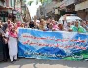 فیصل آباد:مقبوضہ جموں و کشمیر میں گھڑی ٹاور چوک پر بھارتی فوج کے ذریعہ ..