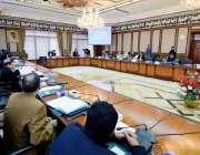 اسلام آباد: وزیراعظم عمران خان وفاقی کابینہ کے اجلاس کی صدارت کر رہے ..