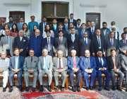 لاہور: نیشنل انسٹی ٹیوٹ آف پبلک پالیسی میں کشمیر کے موضوع پر گفتگو میں ..