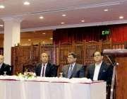 لاہور : صوبائی وزیر خزانہ ہاشم جواں بخت مقامی ہوٹل میں ورلڈ بینک اور ..