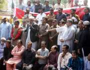 حیدر آباد:صدر واپڈا ہائیڈرو الیکٹرک ورکرز یونین عبدالطیف نظامانی احتجاجی ..