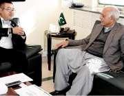 اسلام آباد: وفاقی وزیر پٹرولیم سند قدرتی وسائل غلام سرور خان سے متسو ..