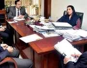اسلام آباد: ڈاکٹر فہمیدہ مرزا سے صدر سپورٹس کنٹرول بورڈ ایڈمرل معظم ..