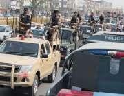 کراچی:نیشنل سٹیڈیم میں پی ایس ایل4کے فائنل میچز کی سکیورٹی کے لیے پاک ..