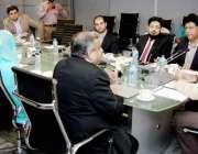 لاہور: وزیر انفارمیشن ٹیکنالوجی پنجاب راجہ یاسر ہمایوں سرفراز پی آئی ..
