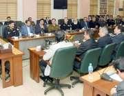 لاہور: وزیر اعلیٰ پنجاب عثمان بزدار سنٹرل پولیس آفس لاہور کے دورے کے ..