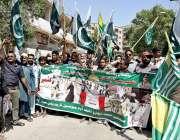 حیدرآباد: پریس کلب کے باہر کشمیری عوام سے اظہار یکجہتی کے لئے ریلی میں ..