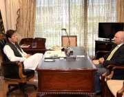 اسلام آباد: وزیر اعظم خان سے چیئرمین بورڈ آف انویسٹمنٹ ہارون شریف ملاقات ..