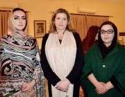 پشاور: رکن صوبائی اسمبلی مومنہ باسط کا مس پینی مورڈونٹ سیکرٹری آف سٹیٹ ..