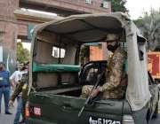 لاہور: پاکستان اور سری لنکا کے درمیان دوسرے ٹی ٹونٹی کے موقع پر پاک ..