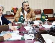 اسلام آباد: وفاقی وزیر برائے امور کشمیر و گلگت بلتستان علی امین خان ..