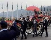 اسلام آباد: وزیر اعظم عمران خان اور سعودی ولی عہد محمد بن سلمان ایوان ..