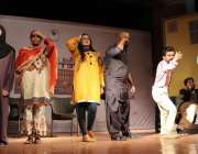 کراچی: تھیٹر کے عالمی دن کی مناسبت سے مقامی فنکار اپنے فن کا مظاہرہ ..