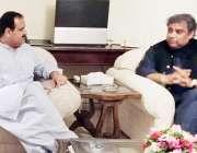 اسلام آباد: وزیر اعلیٰ پنجاب سردار عثمان بزدار سے وفاقی وزیر علی زیدی ..