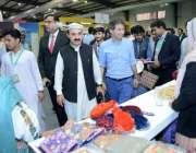 کراچی :سینئروزیر سیاحت خیبر پختونخوا عاطف خان پاکستان ٹریول مارٹ میں ..