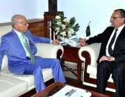 اسلام آباد: وفاقی وزیر برائے پارلیمنٹری افیئرز محمد اعظم خان سواتی ..