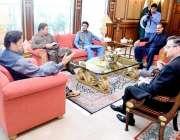 اسلام آباد: وزیراعظم عمران خان سے چوہدری محمد عدنان ایم پی اے و پارلیمانی ..