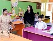 لاہور: صوبائی سیکرٹری لیبر سارہ اسلم ورکرز ویلفیرء بورڈ بوائز سکول ..